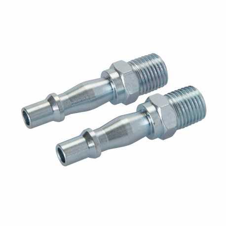 2 coupleurs baïonnette/filetage pour tuyau air comprimé