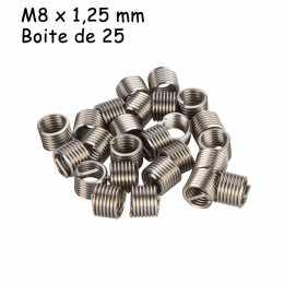Boite de filets rapportés type Hélicoil - M8 x 1.25mm